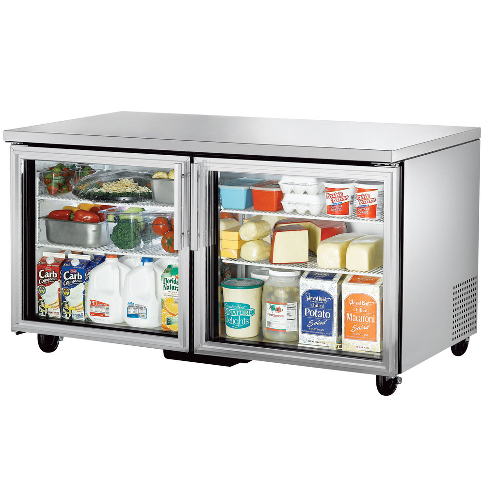 True Tuc 60g 60 Quot Glass Door Undercounter Refrigerator