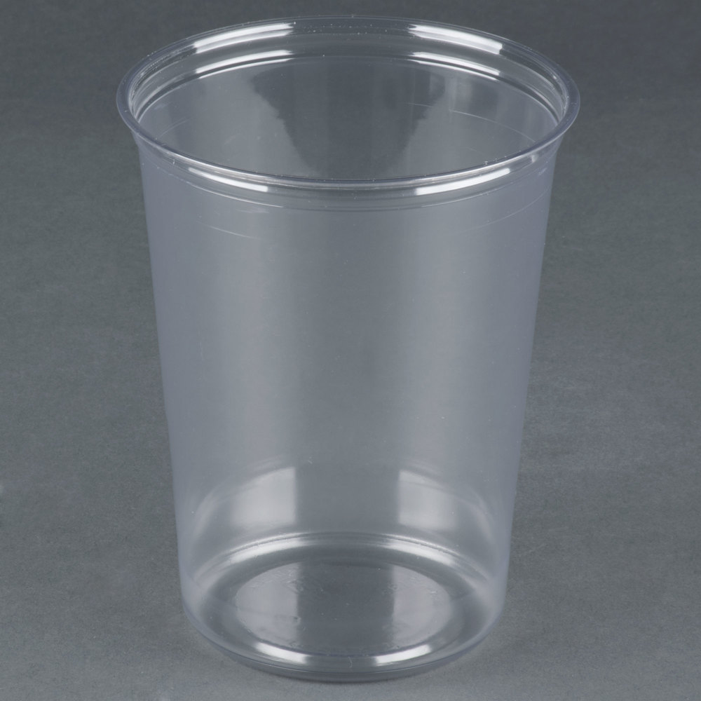 Fabri kal alur rd32 32 oz recycled customizable clear pet for Recycled plastic containers