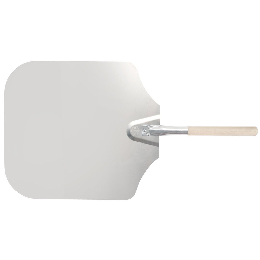 "American Metalcraft 3016 16"" x 18"" Aluminum Pizza Peel with 12"" Wood Handle"