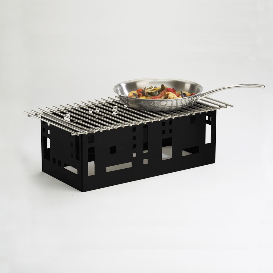 "Cal Mil 1612-22-13 Black Steel Squared 23"" x 15"" Grill Stand at Sears.com"