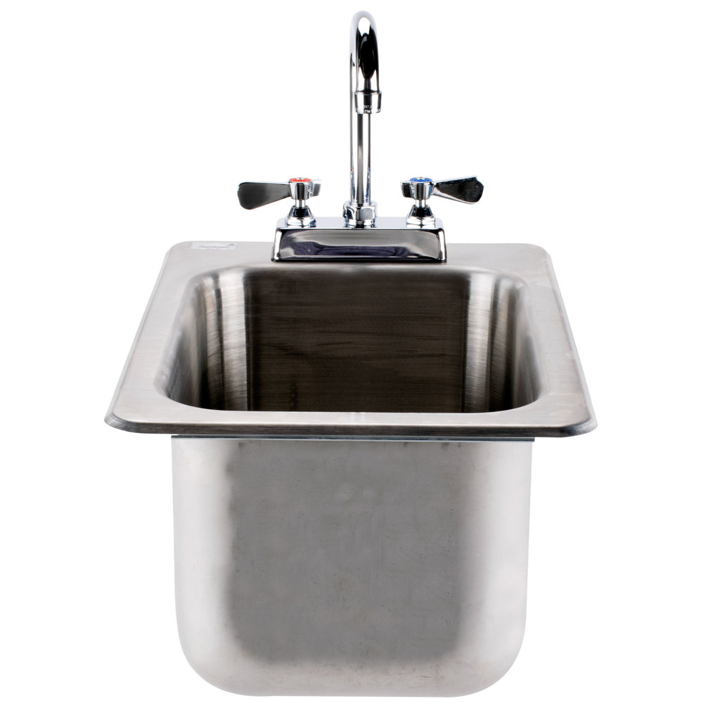Drop In Stainless Steel Utility Sink : Advance Tabco DI-1-10 Drop In Stainless Steel Sink 10