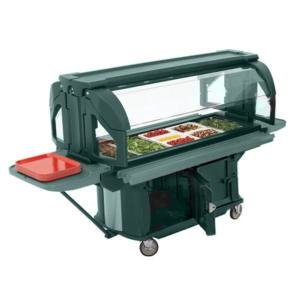 Cambro VBRU5519 Kentucky Green 5' Versa Ultra Food / Salad Bar with Storage and Standard Casters at Sears.com