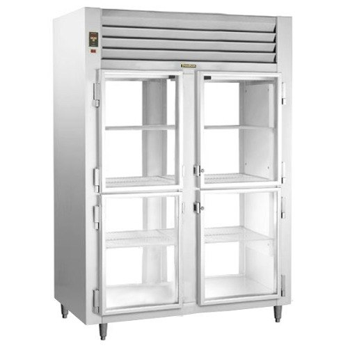 Traulsen RHT226WPUT-HHG Stainless Steel 43.5 Cu. Ft. Two Section Glass Half Door Shallow Depth Pass-Through Refrigerator - Specification Line