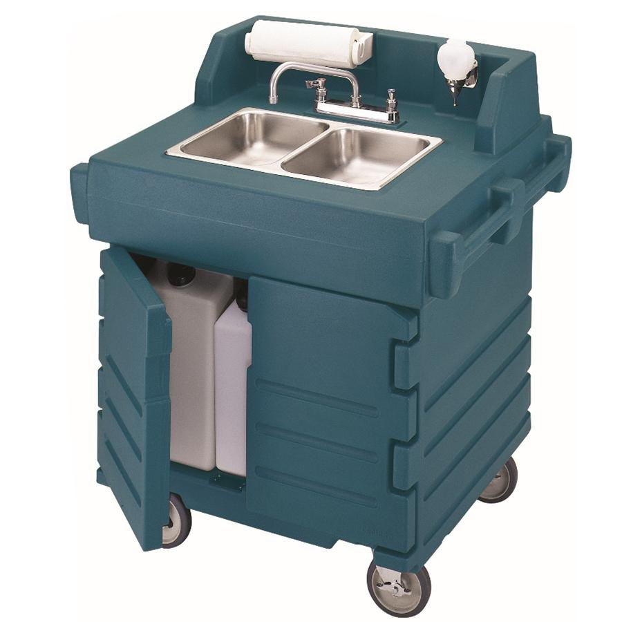 Cambro KSC402192 Granite Green CamKiosk Portable Self-Contained Hand Sink Cart 110