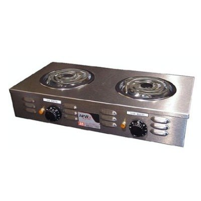APW Wyott CP-2A Champion Double Open Burner Portable Electric Hot Plate - 120V, 1800W at Sears.com