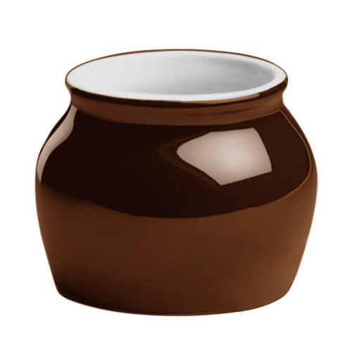 Hall China 4610ABRB 7 oz. Brown Boston Bean Pot - 24/Case