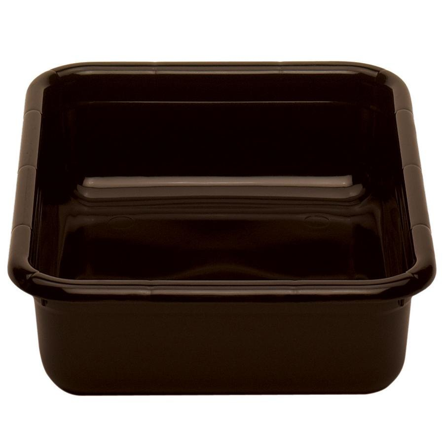 "Cambro 1520CBPF131 20"" x 15"" x 5"" Dark Brown Polyethylene Plastic Bus Box with Flat Bottom"
