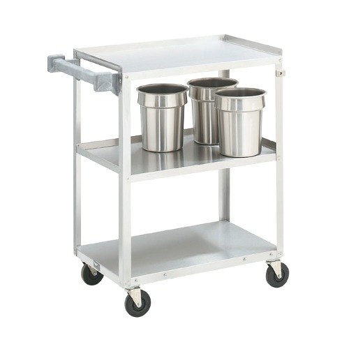 "Vollrath 97120 Stainless Steel 3 Shelf Medium Duty Cart - 27 1/2"" x 15 1/2"" x 33"""