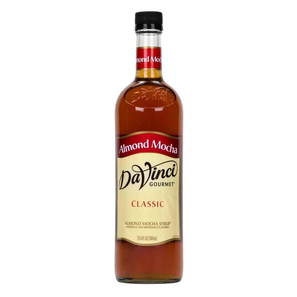 DaVinci Gourmet 750 mL Almond Mocha Classic Coffee Flavoring Syrup