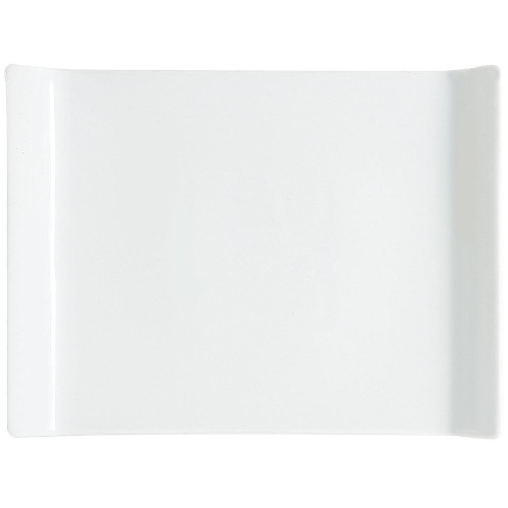 "GET ML-214-W 26"" x 18"" San Michele White Platter - 3/Case"