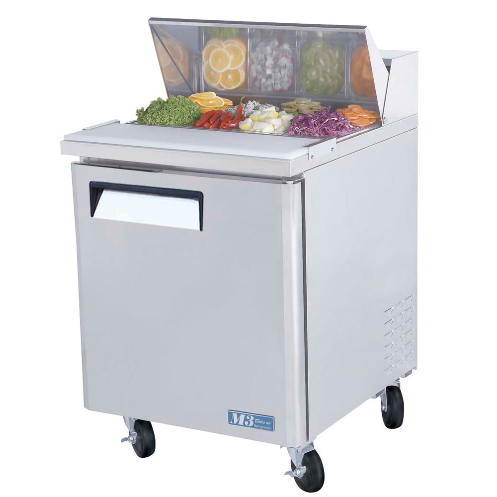 "Turbo Air MST-28 27"" M3 Series Single Door Refrigerated Salad / Sandwich Prep Table"
