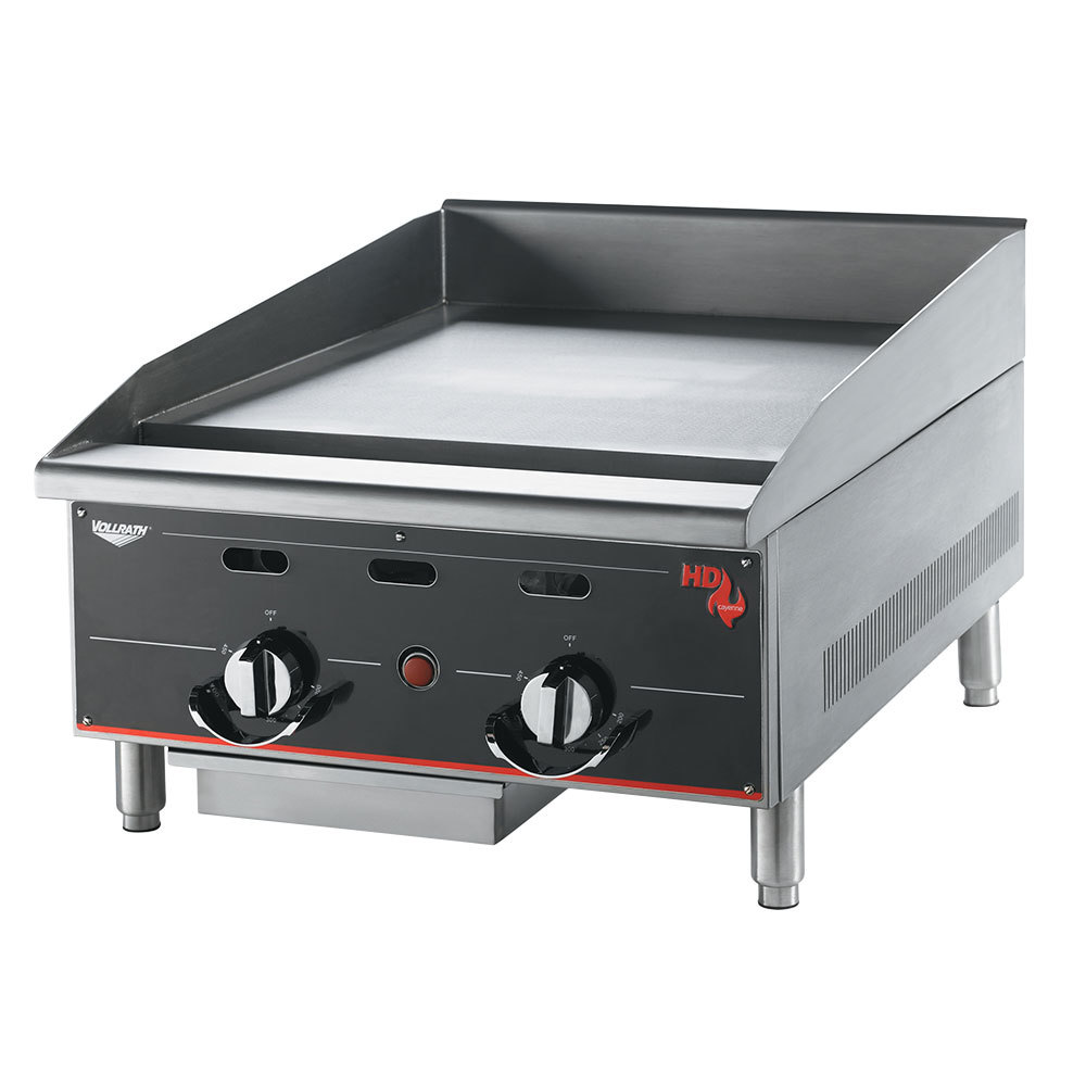 "Vollrath 924GGT Cayenne 24"" Heavy Duty Countertop Griddle with Thermostatic Controls - 60,000 BTU"