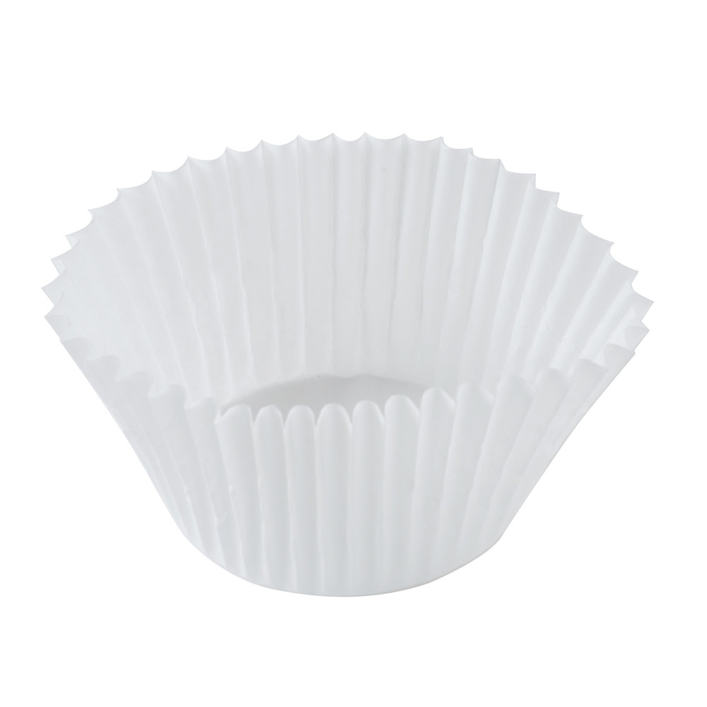 "Hoffmaster 610060 2 1/4"" x 1 5/8"" White Fluted Baking Cup - 500/Pack"