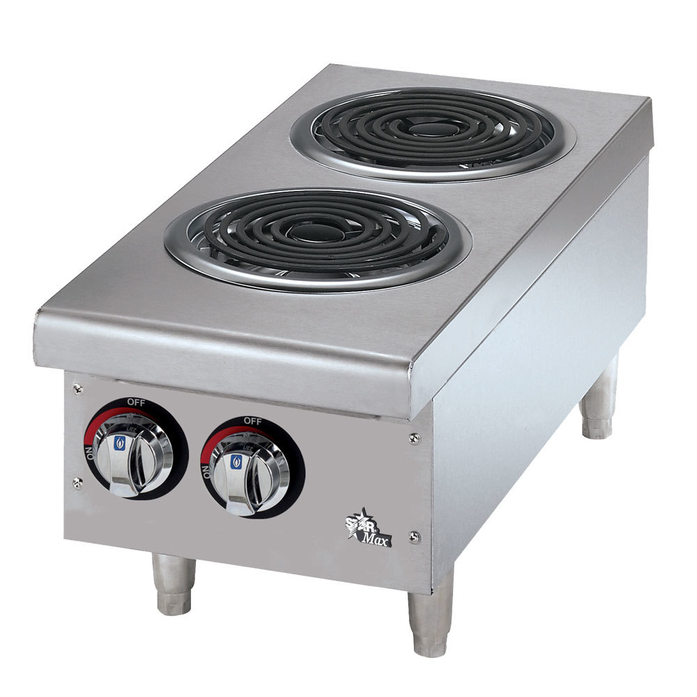Countertop Stove Burners : Star Max 502CF 2 Burner Countertop Range with Coil Burners