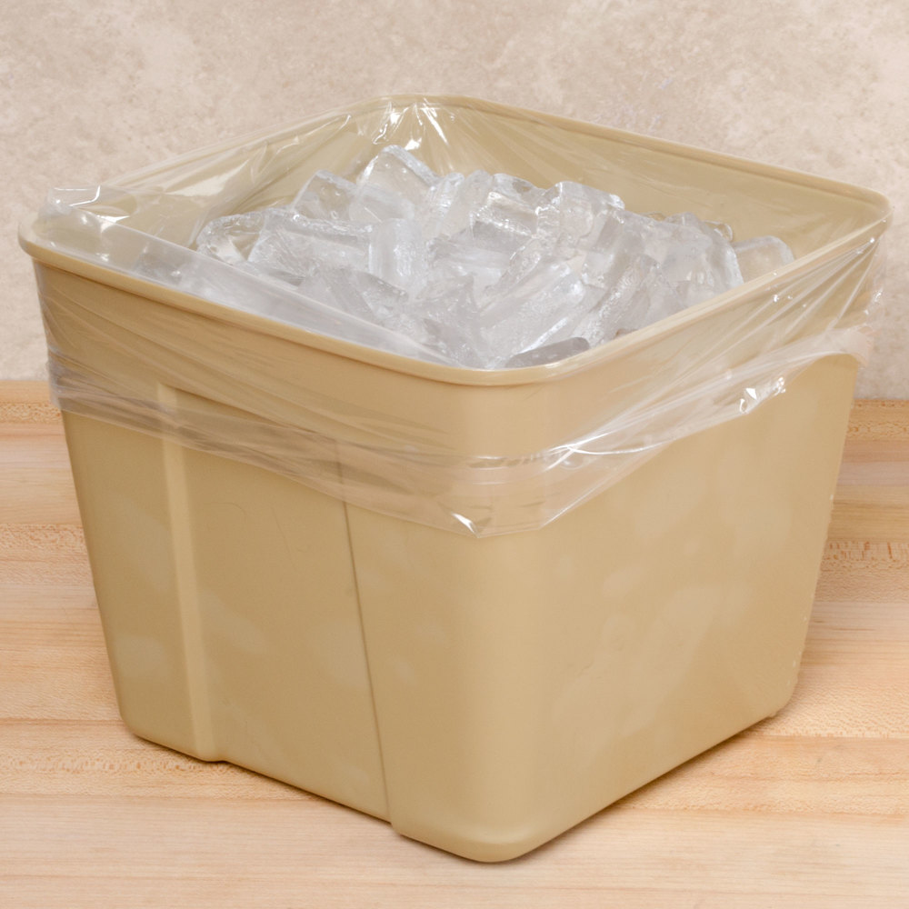 "Plastic Food Bag / Ice Bucket Liner 8"" x 4"" x 12"" 1000 / Box"