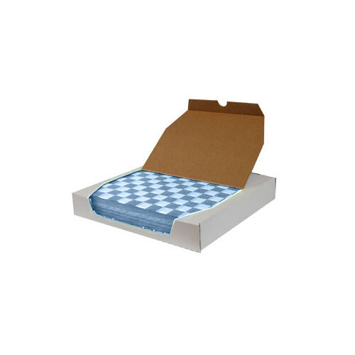 12 inch x 12 inch Choice Blue Check Deli Sandwich Wrap Paper - 5000 / Case