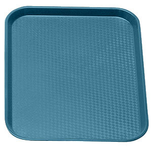 "Cambro 1014FF414 Teal 10"" x 14"" Customizable Fast Food Tray 24/Case"