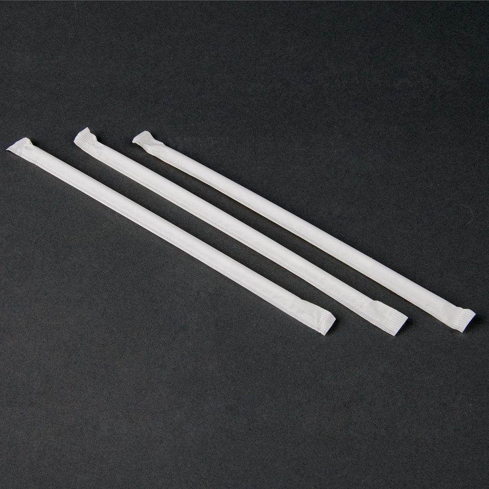 Choice 7 3/4 inch Wrapped Flex Straw - 400 / Box