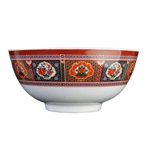 Peacock 39 oz. Round Melamine Rice Bowl - 12/Case
