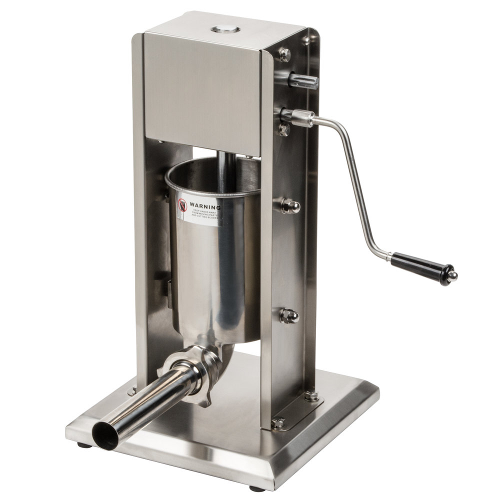 manual 7 lb  vertical economy sausage stuffer with