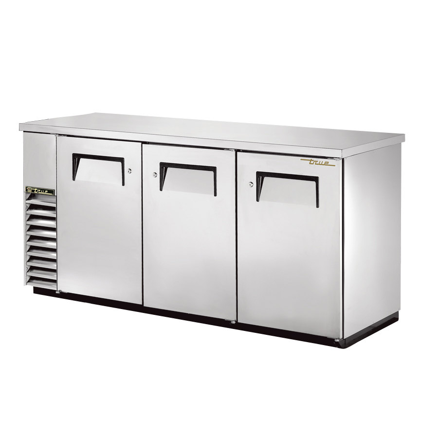 "True Refrigeration True TBB-24-72-S 73"" Back Bar Cooler Stainless Steel with Solid Doors - 24"" Deep at Sears.com"