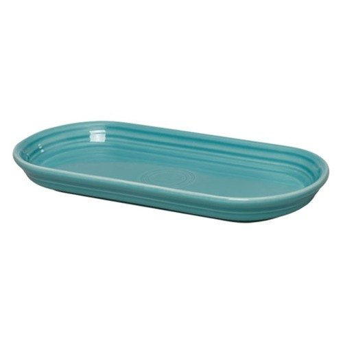 Homer Laughlin 412107 Fiesta Turquoise 12 inch x 5 11/16 inch Bread Tray - 6 / Case