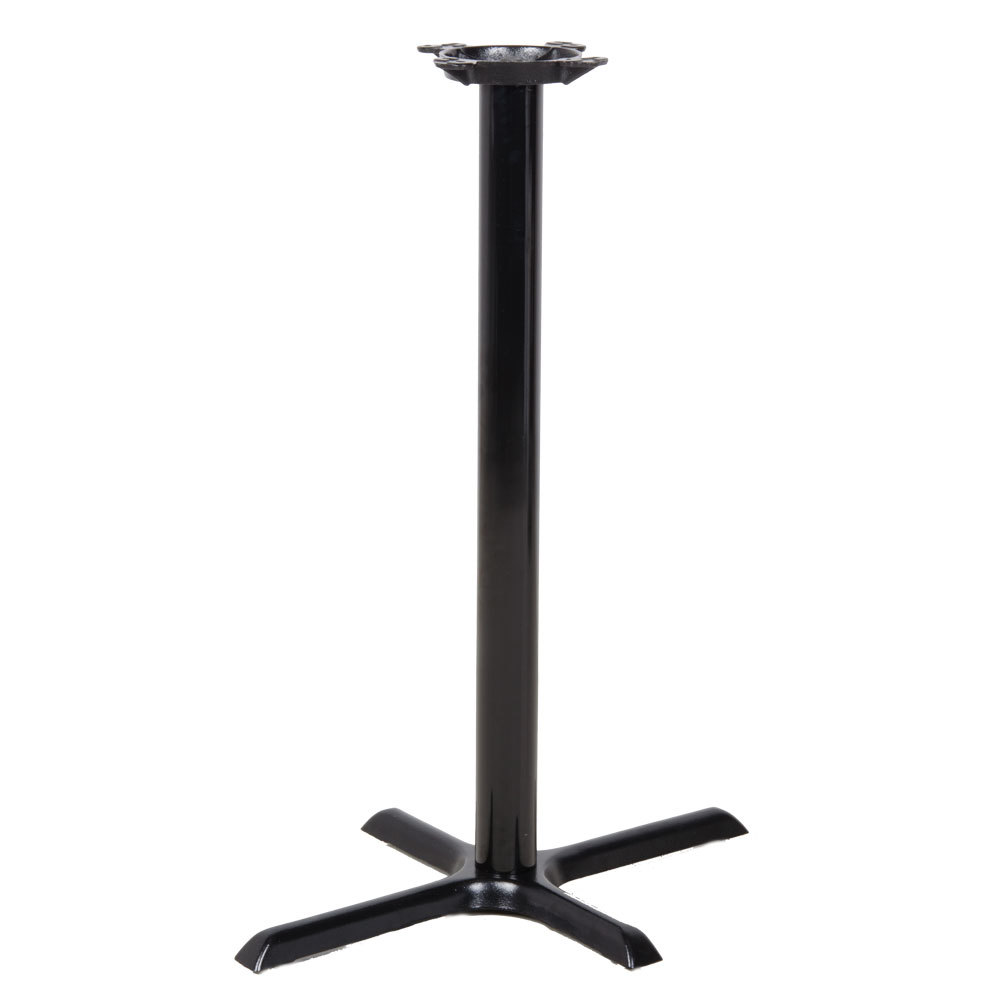 "Lancaster Table & Seating 22"" x 30"" Black Metal Table Base - Bar Height"