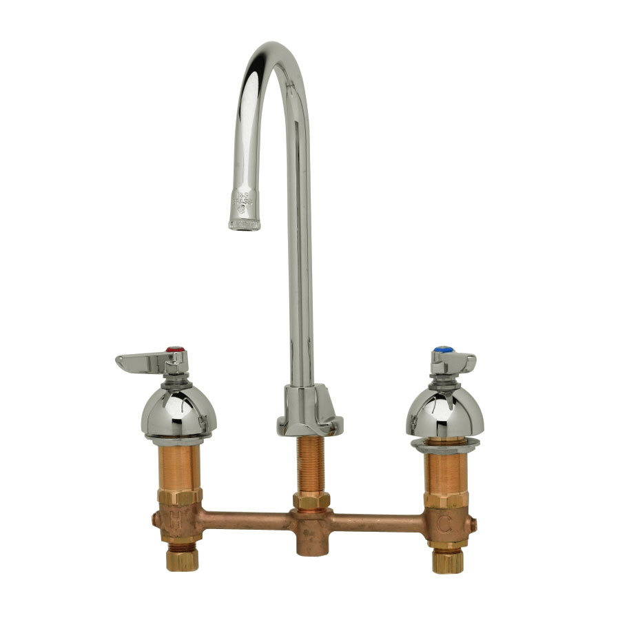 T S B 2885 Medical Lavatory Faucet With Pop Up Drain And 8 Centers 11 1 4 High Rigid