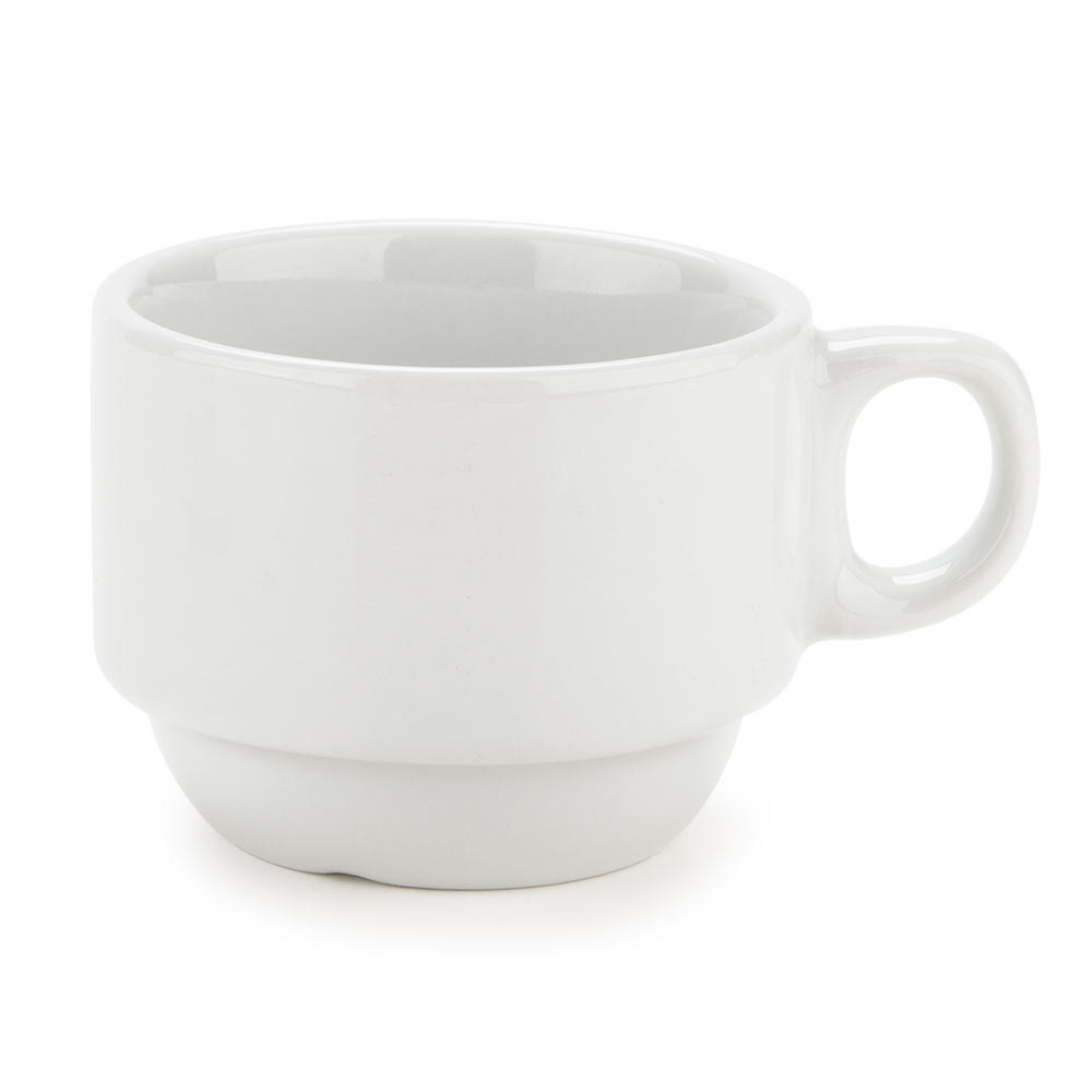 Tuxton ALF-0303 Alaska 3 oz. Bright White China Stackable Demi Cup 36/Case