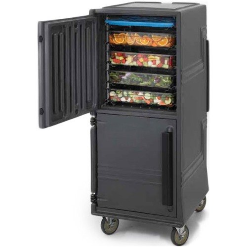 Cambro CMBPSP615 Charcoal Gray Combo Cart Plus with Security Package and Standard Casters at Sears.com