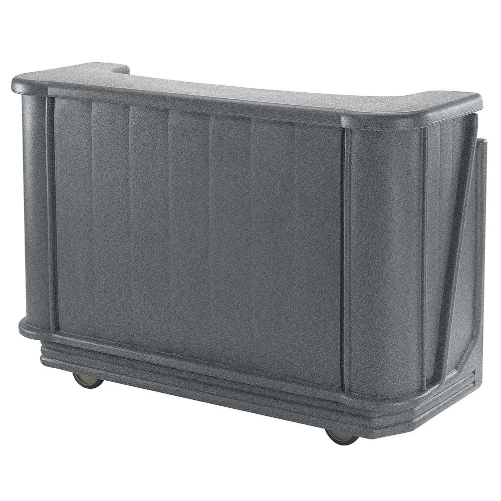 "Cambro BAR650PM191 Granite Gray Cambar 67"" Portable Bar with 7-Bottle Speed Rail and Complete Post Mix System"