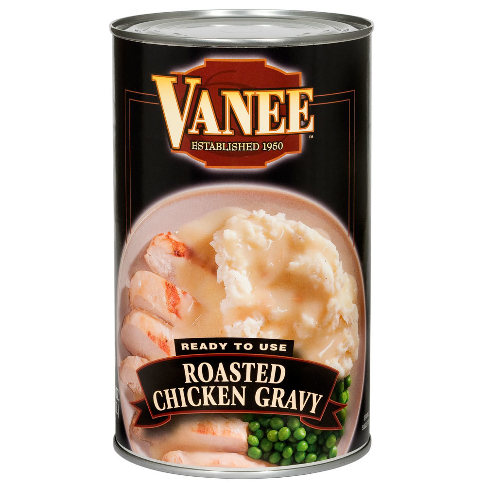 Vanee 550VD 50 oz. Can Roasted Chicken Gravy - 12/Case
