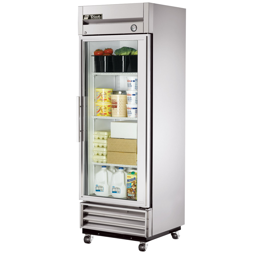 True T 19g Ld 27 Single Glass Door Reach In Refrigerator
