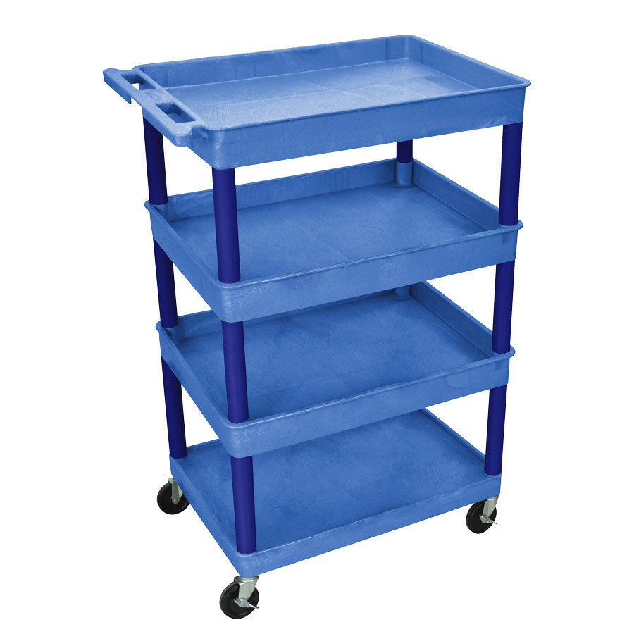 Small kitchen utility cart wheels from for Kitchen utility cart