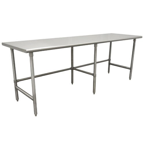 "Advance Tabco TSS-2412 24"" x 144"" 14 Gauge Open Base Stainless Steel Commercial Work Table"
