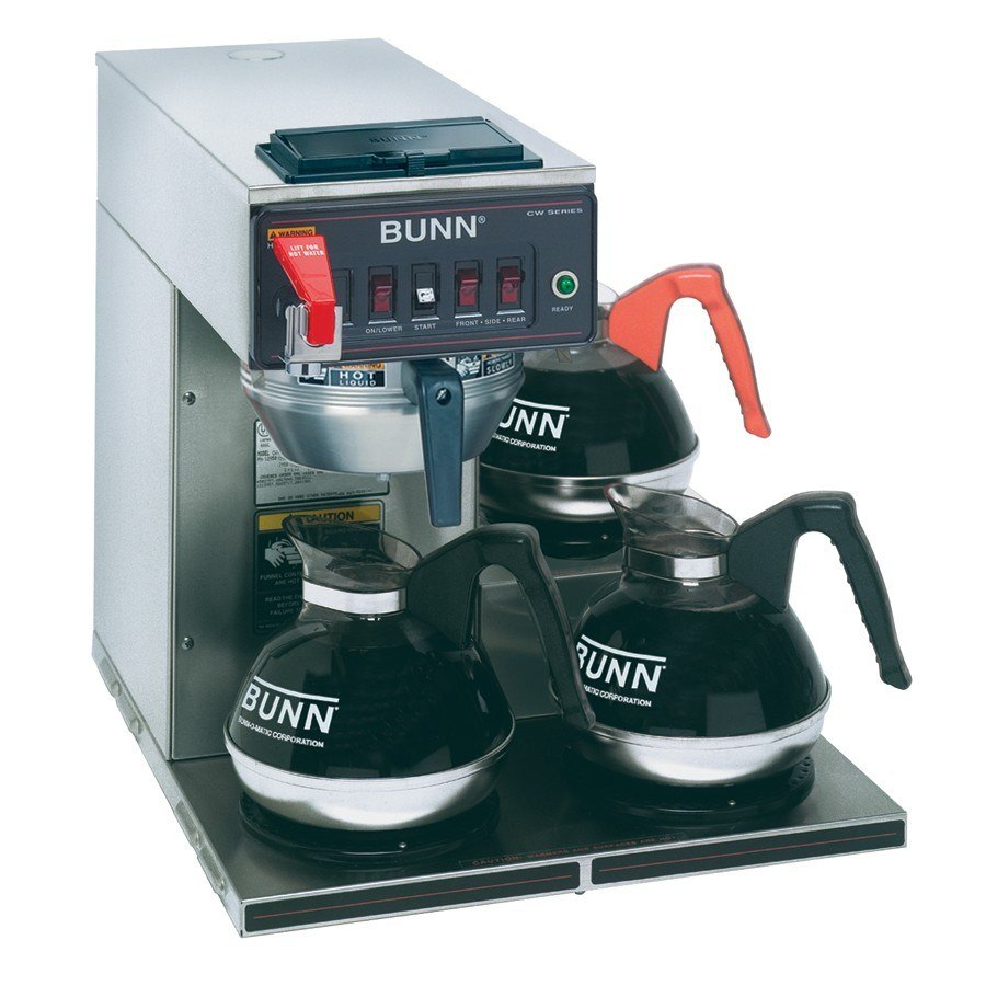 Bunn CWTF-DV Automatic 12 Cup Coffee Brewer with 3 Lower Warmers - Stainless Steel Funnel Dual Voltage (12950.0409) at Sears.com