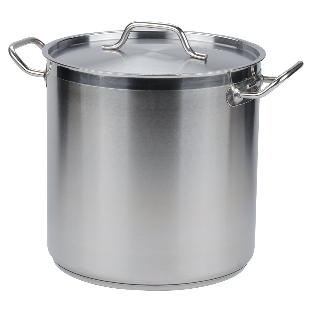 Vollrath 3504 Optio 18 Qt. Stock Pot with Cover