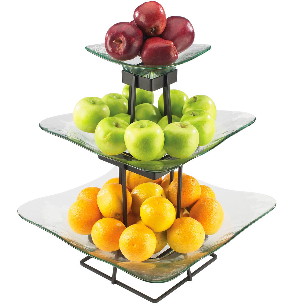 "Cal-Mil 1541-3-13 Torre Plaza 16 3/4"" x 20 1/4"" Glass Display Stand"
