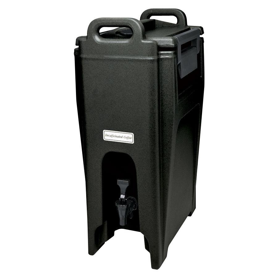 Cambro UC500110 Black Ultra Camtainer 5.25 Gallon Insulated Beverage Dispenser