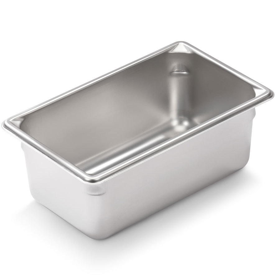 Vollrath Super Pan V 30942 1/9 Size Stainless Steel Anti-Jam Steam Table / Hotel Pan - 4 inch Deep