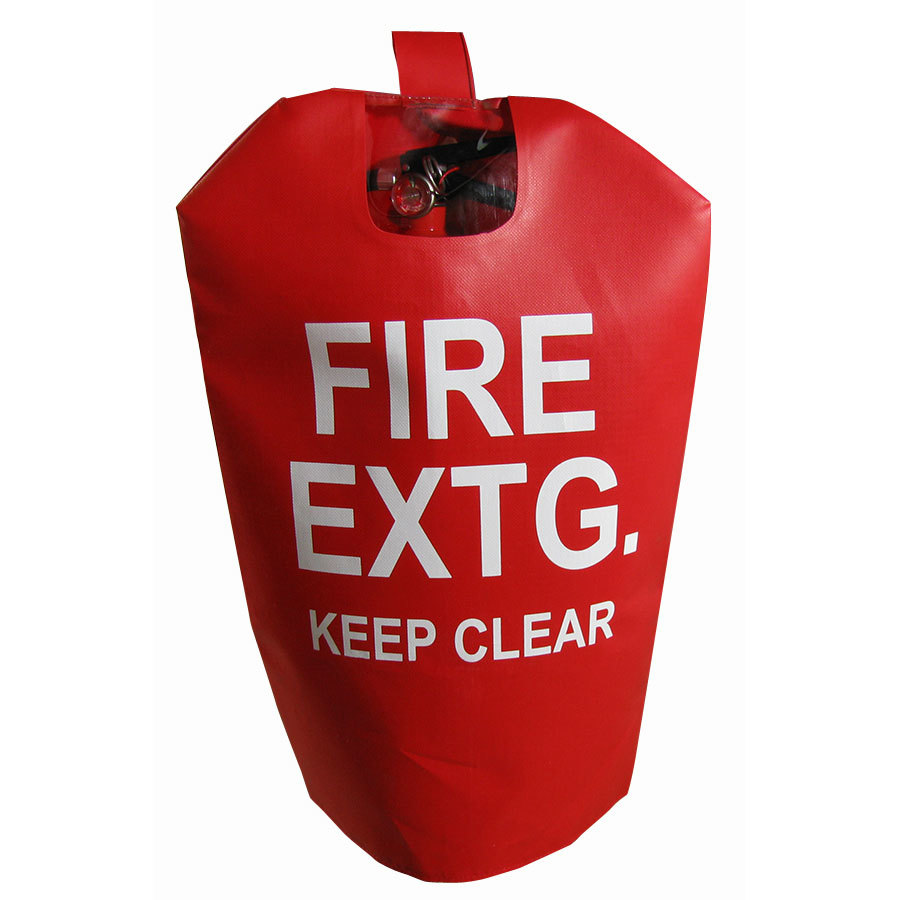 "Fire Extinguisher Cover With Window 16"" x 27"" - Fits 15 to 30# Extinguishers"
