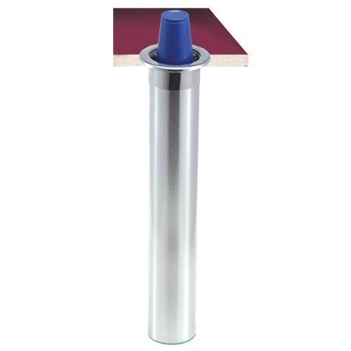 San Jamar C3200CF Stainless Steel Counter-Mount Foam Cup Dispenser - 6 to 10 oz.