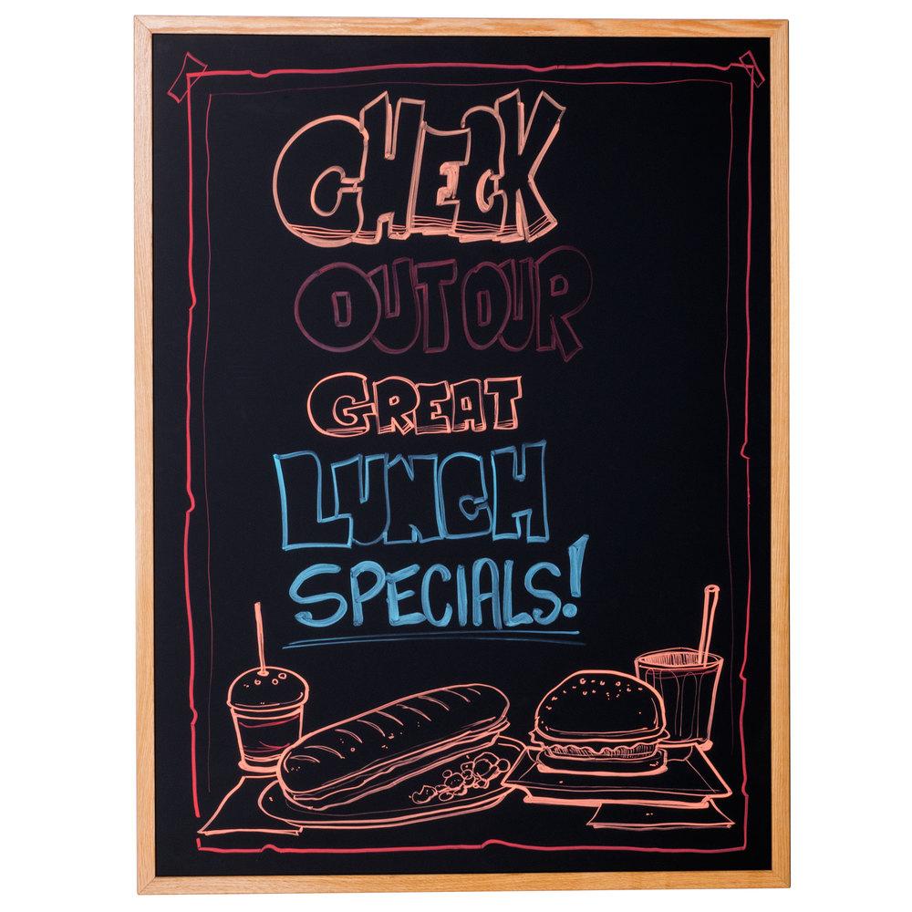 36 u0026quot  x 48 u0026quot  oak frame black chalk board