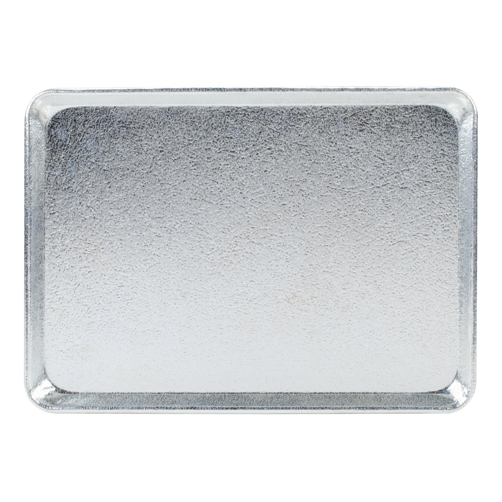"Chicago Metallic 40947 Silver 9 1/2"" x 13"" Bakery Display Tray"