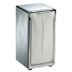 San Jamar H900XC Tallfold Two-Sided Tabletop Napkin Dispenser - Chrome