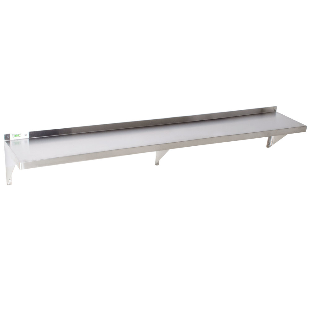Regency 18 Gauge Stainless Steel 12 Quot X 84 Quot Solid Wall Shelf