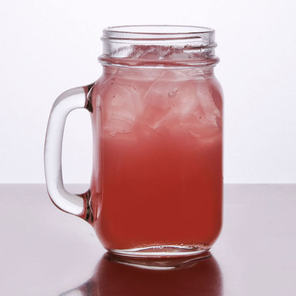 Core 16 oz. Mason Jar / Drinking Jar with Handle - 12 / Case at Sears.com