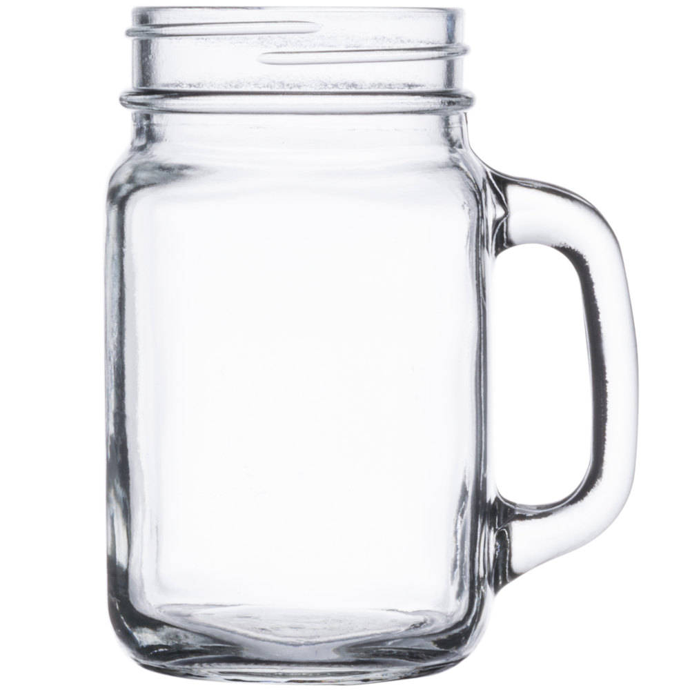 Core 16 Oz Mason Jar Drinking Jar With Handle 12 Case