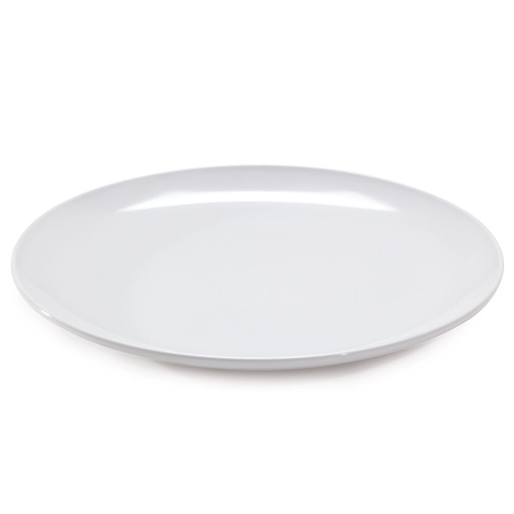 GET CS-6108-W 14 inch White Siciliano Plate - 12 / Case