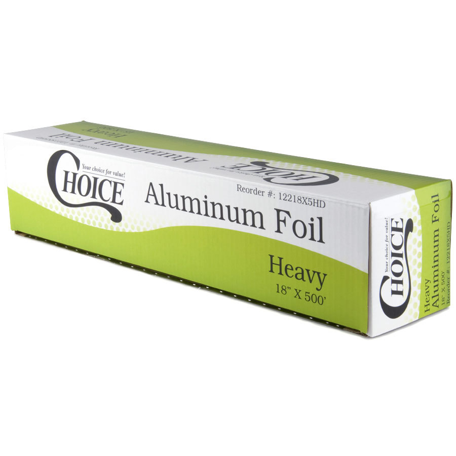 Choice 18 inch x 500' Food Service Heavy-Duty Aluminum Foil Roll